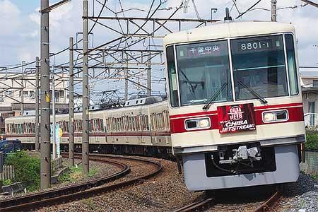 新京成電鉄で「千葉ジェッツ トレイン」運転