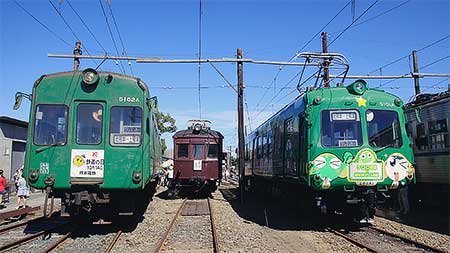 熊本電気鉄道で『電車ふれあい祭り』開催