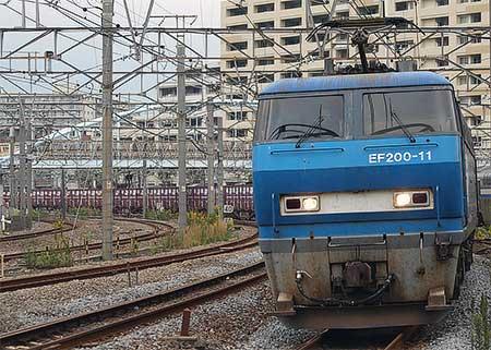 貨物列車が東海道旅客線をう回