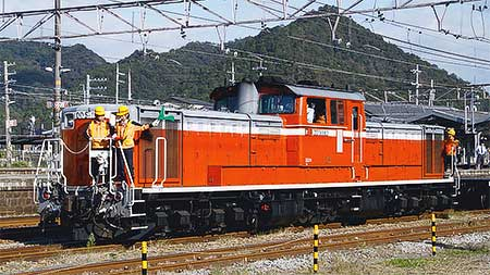 上郡駅でDD51を使用した訓練