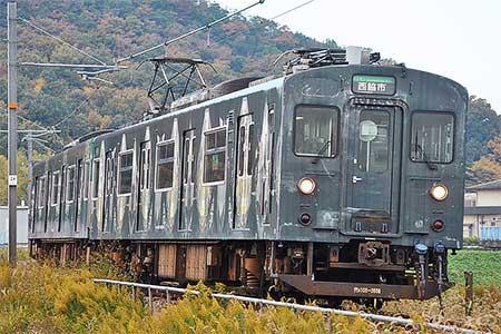 加古川線でラッピング列車「走れ!Y字路」の最終運行