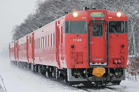 根室本線でキハ40形首都圏色の3両編成運転