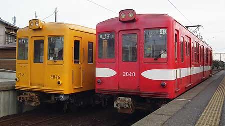 銚子電鉄デハ1001・デハ1002,銚子方に営団時代の旧車番