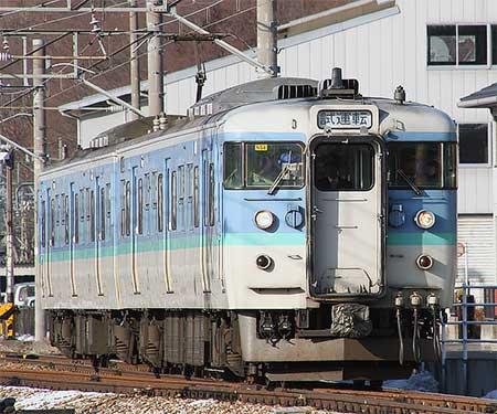 115系N56編成が,しなの鉄道線内で試運転