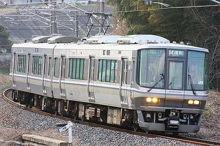 223系6000番台が幡生—小野田間で試運転