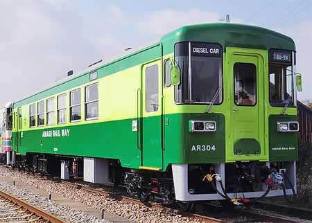 甘木鉄道AR304が塗装変更される
