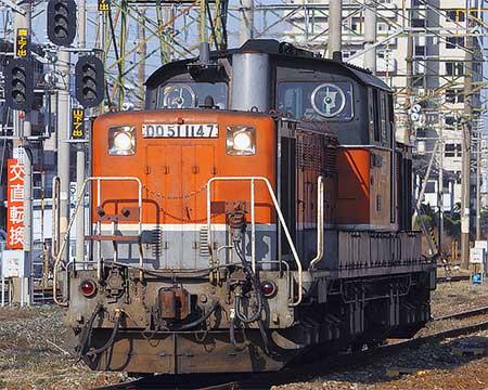 DD51 1147が本線試運転