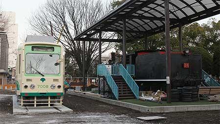 都電7008号車が大田区の公園へ