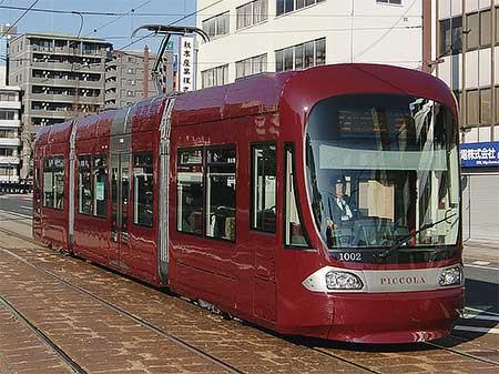 広島電鉄1000形が営業運転を開始