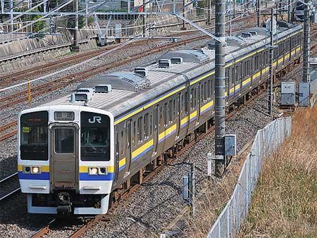 211系マリ502編成が習志野電車区へ
