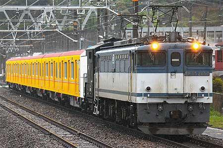 東京メトロ1000系第2編成が甲種輸送される