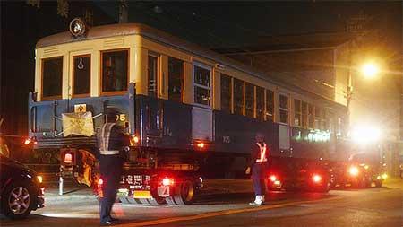 大阪市交 旧100形105号車が緑木検車場に戻る