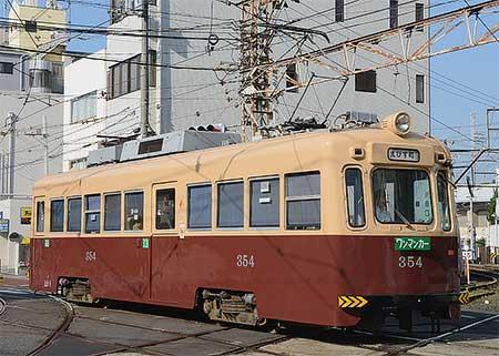 阪堺モ354号が大阪市電塗装に|鉄道ニュース|2013年6月5日掲載|鉄道 ...