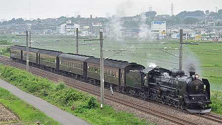 C61 20+旧客が東北本線で試運転