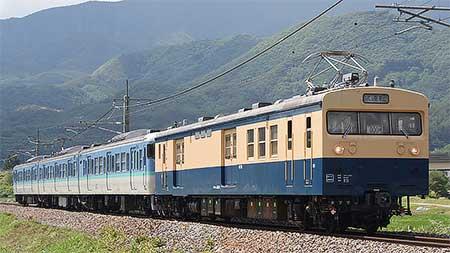 クモユニ143-1+115系N29編成が篠ノ井線で試運転