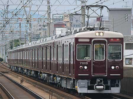 阪急7000系7010編成が出場