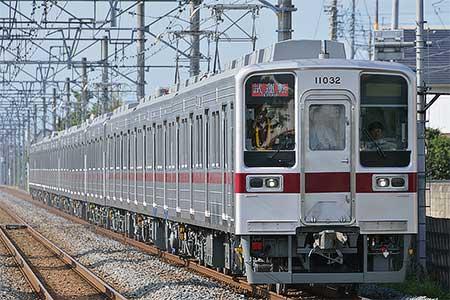 東武10030系11032編成が伊勢崎線で日中試運転