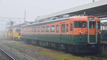 クモハ169-6,軽井沢駅旧1番線に移設