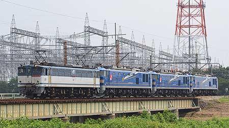 EF510形500番台3両が高崎操車場へ