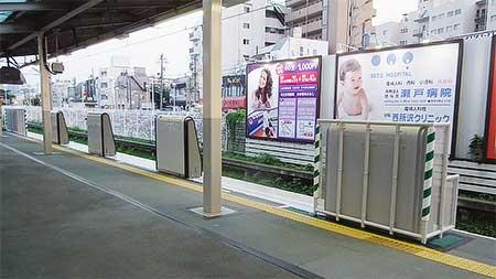 新所沢駅1番線にホームドアが取り付けられる