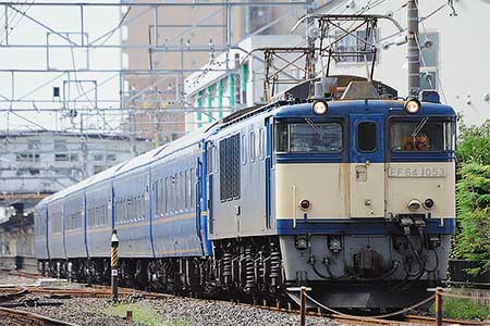 EF64 1053が東北本線で24系客車をけん引