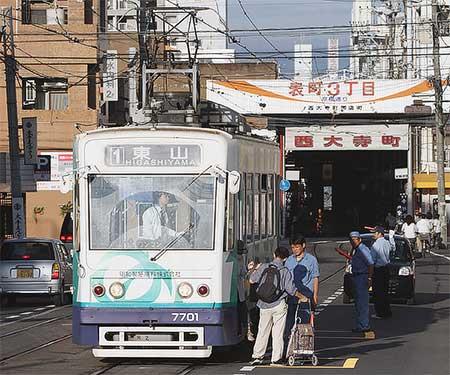 岡山電気軌道で京橋臨時電停が設置される