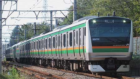 E233系3000番台が青梅線に初入線