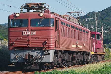 日豊本線でEF81 301+DE10 1558が走る