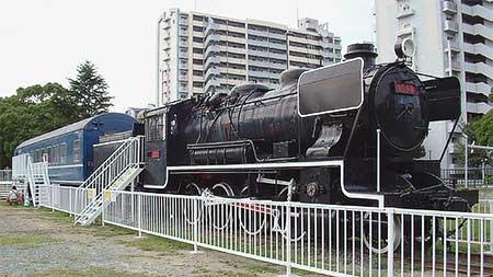 貝塚公園の49627号機と20系客車の内部公開