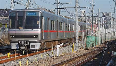 名鉄河和線青山駅付近下り線も高架化される