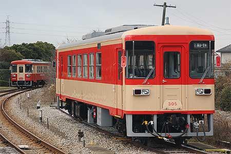 甘木鉄道AR305が国鉄急行色に