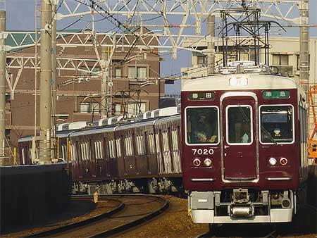 阪急7000系7020編成が運用復帰