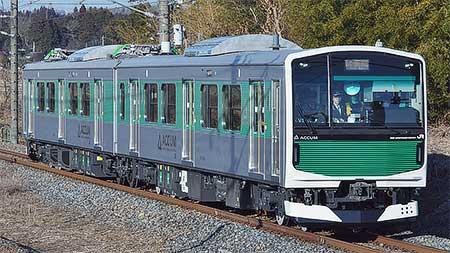 EV-E301系「ACCUM」が宇都宮線で試運転