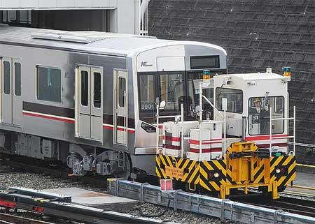 北大阪急行電鉄9000系が桃山台車庫に姿を現す