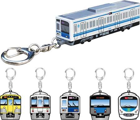 「西武鉄道6000系電車型キーライト」・「西武鉄道Bigキーホルダー」発売