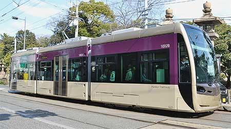阪堺「紫おん」の貸切運転