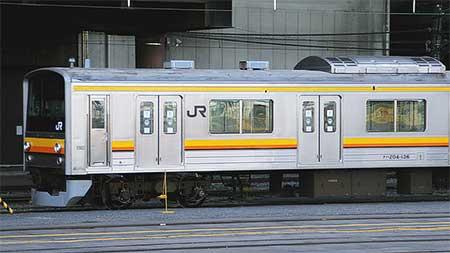 もと横浜線用205系H26編成が南武線色に