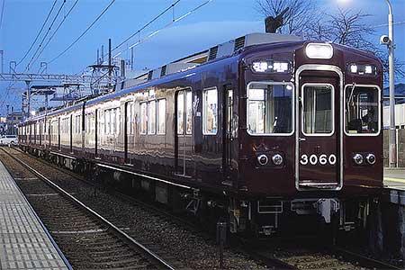 阪急3000系の一部にLED前照灯