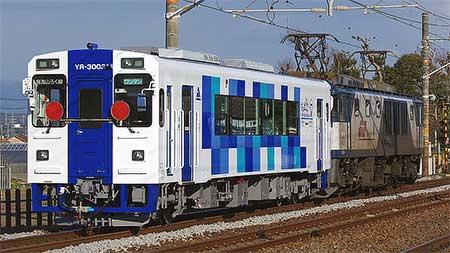 由利高原鉄道YR-3003が甲種輸送される