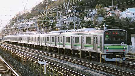 横浜線用205系H16編成が国府津車両センターへ