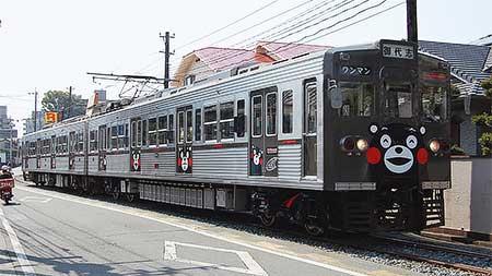 熊本電鉄で「くまモン電車」の運転開始