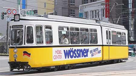 福井鉄道でドイツ製車両「レトラム」735号が営業運転を開始