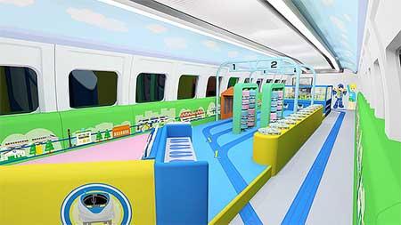 山陽新幹線500系に「プラレールカー」登場
