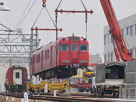名鉄瀬戸線最後の6000系編成が廃車・陸送される