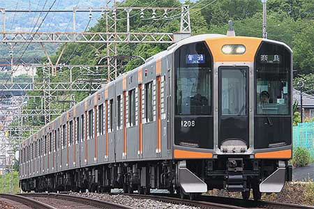 阪神1000系で前照灯交換車