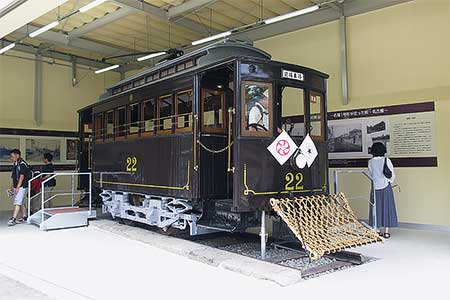 明治村で名電1号形電車の特別展示開始