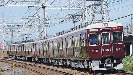 阪急7000系7003編成が6連化される