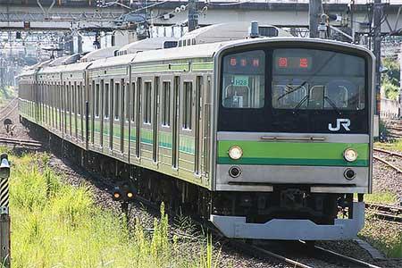 205系H28編成が鎌倉車両センター...