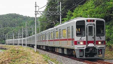 東武30000系31614編成+31414編成が森林公園検修区へ