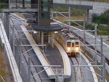 吾妻線新線で試運転